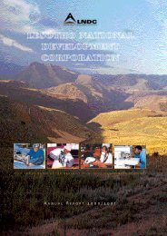 2000 / 2001 - Lesotho National Development Corporation