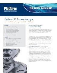 technical data sheet - Platform Computing