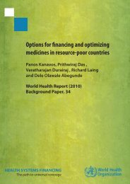 Options for nancing and optimizing medicines in resource-poor ...
