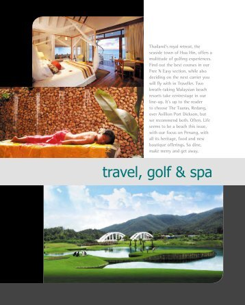 travel, golf & spa - Hospitality Asia Magazine