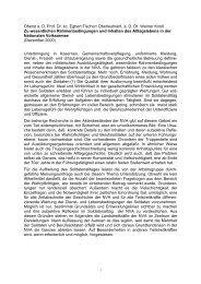 Zu wesentlichen Rahmenbedingungen und Inhalten ... - aggi-info.de
