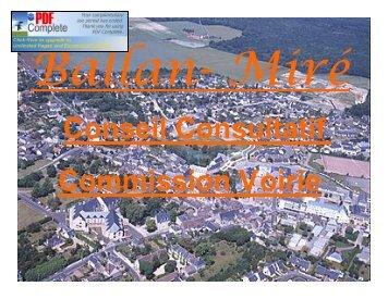 La voirie et le plan de circulation - Ballan-Miré