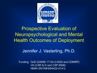 Prospective Evaluation of Neuropsychological and Mental Health ...
