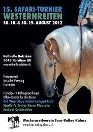 Programmheft Safariturnier 2012 - Four-Valley Riders