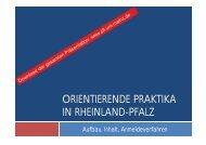 Präsentation Infoveranstaltung Orientierende Praktika SoSe 2011