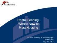 Rental Lending - National Housing & Rehabilitation Association