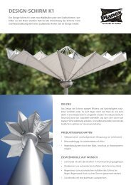 Design-schirm K1 - Planex Technik in Textil GmbH