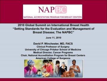 "2010 Global Summit on International Breast Health ""Setting ..."