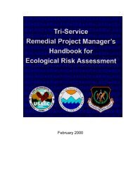 Tri-Service Remedial Project Manager's Guide for Ecological Risk ...