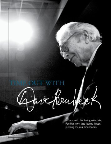 Dave Brubeck article from the Fall 2009 Pacific Review