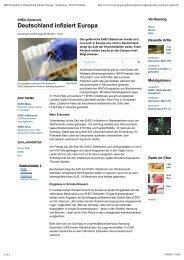 EHEC-Epidemie_ Deutschland infiziert Europa - Werkgroep Terlinden