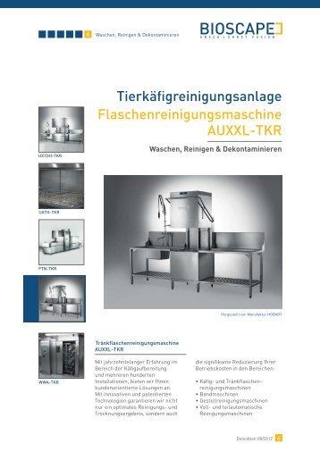 Tierkäfigreinigungsanlage Flaschenreinigungsmaschine AUXXL-TKR
