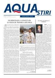 AQUA Ştiri nr. 1 / ianuarie 2010 - Aquatim