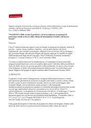 Oggetto: progetto di protezione sociale per persone ... - uil varese