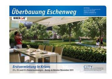 Überbauung Eschenweg - City Immobilien, Hergiswil