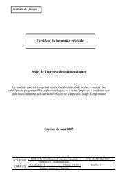 CFG math mai 2007 - Matheur