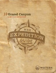 Grand Canyon 6/7 Day Trip - Western River Expeditions