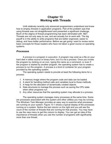 Chapter 13 Working with Threads - Tom