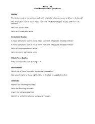 Music 130 Final Exam Practice Questions Modes The ... - Jkornfeld.net