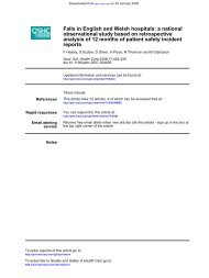 reports analysis of 12 months of patient safety incident observational ...