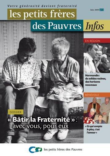 les petits frères des Pauvres Infos n°13 - juin 2009