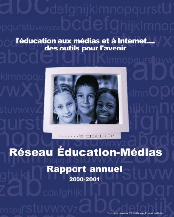 Rapport annuel 2000 - 2001