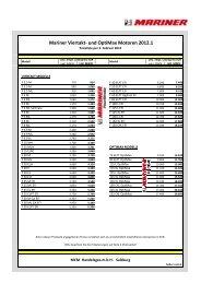 Mariner Viertakt- und OptiMax Preisliste 110201 - Boote Graser