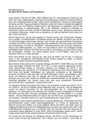 Buchbesprechung 50 Jahre NATO. Bilanz und ... - aggi-info.de