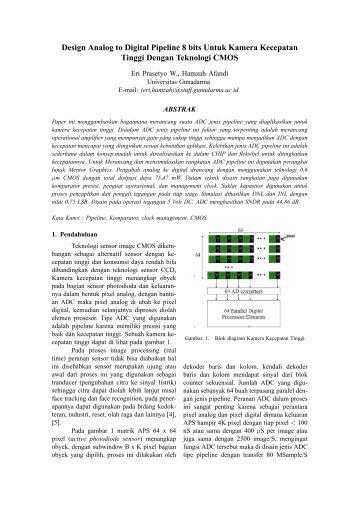 Design Analog to Digital Pipeline 8 bits Untuk Kamera ... - Pusat Studi
