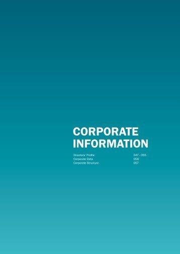 Corporate InformatIon - Gamuda Berhad - Investor Relations