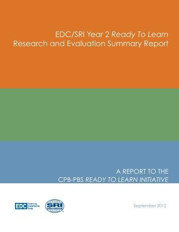 EDC/SRI Summary Report - PBS Kids