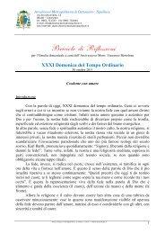 XXXI Domenica del Tempo Ordinario - ARCIDIOCESI ...