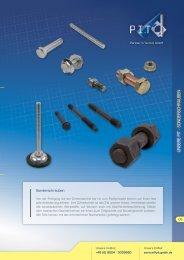 UNSERE PIT - SONDERSCHRAUBEN - PIT Partner in Technik GmbH