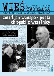zmarł jan wanago - poeta chłopski z wrześnicy - Powiat Słupski