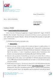 Roma, 22 Gennaio 2013 Prot. n. 56/2013/CDA/SS/GN Ai ... - uil varese