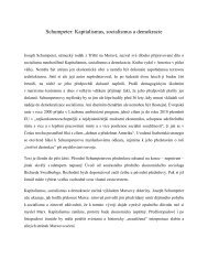 Schumpeter: Kapitalismus, socialismus a demokracie