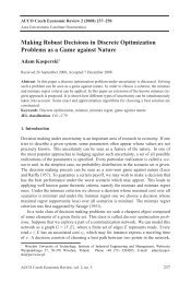 Making Robust Decisions in Discrete Optimization Problems as a ...