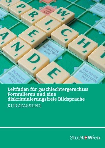 Stadt_Wien_2011_Leitfaden_geschlechtergerechtes_Formulieren_diskriminierungsfreie_Bildsprache