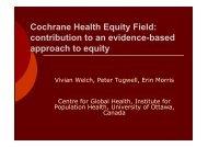 Cochrane Health Equity Field - Eventos.bvsalud.org