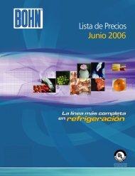 Lista de Precios Junio 2006 - Bohn