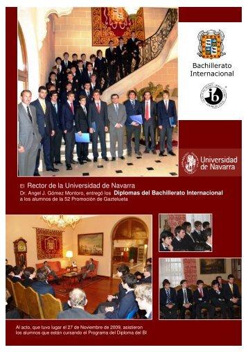 El Rector de la Universidad de Navarra Bachillerato Internacional