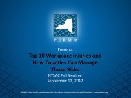 Top 10 Workplace Injuries - New York State Association of Counties