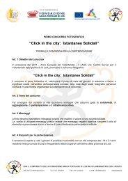 Regolamento Click in the City - Destinazione Europa