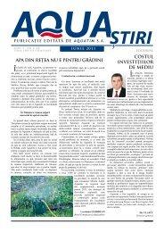 AQUA Ştiri nr. 6 (22) / iunie 2011 - Aquatim