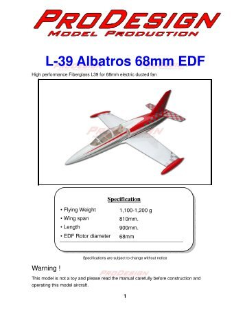 1 L-39 Albatros 68mm EDF - Hobby King