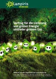 Vertrag für die Lieferung von grüner Energie und/oder ... - Lampiris
