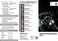 Veranstaltungskalender 2011 - BMW Motorrad