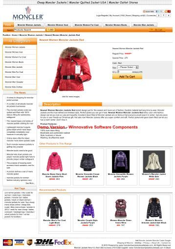 Online shopping newest  women moncler jackets red  in general is ...