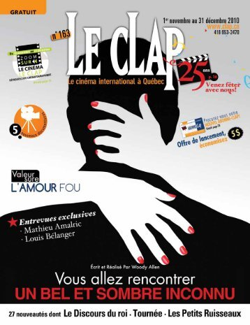25 ans de cinéma international - Le Clap
